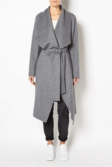 Witchery wrap blanket coat $399.95